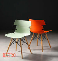 2 x Retro Eiffel   Chair  Dining Retro Designer  --0---.