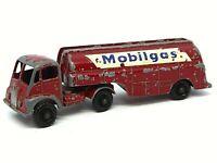 Matchbox Lesney M-8a Thornycroft 'Mobilgas' Tanker (RARE BLACK PLASTIC WHEELS)