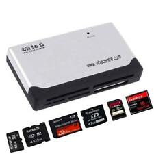 WHITE ALL IN 1 MULTI MEMORY CARD USB READER SD SDHC MINI MICRO M2 MMC XD CF MS