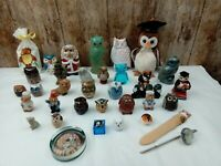 SELECTION OF 35 OWL RELATED COLLECTABLES, POTTERY, RESIN, CANDLE, SOAP,  GLASS