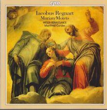 Lacobus Regnart Motets Weser-Renaissanca Manfred Cordes 1997 CD CPO