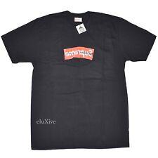 NWT Supreme x Comme des Garcons CDG Black Red Box Logo T-Shirt L SS17 AUTHENTIC
