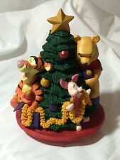 Winnie the Pooh and Friends Trimming the Christmas Tree Centerpiece All Around