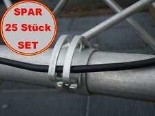 25x SNAP light Grau Kabel Halter für Traversen Rohr, Befestigungs Klammer Klemme