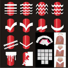 5 Sheets/set French Nail Tips Manicure Nail Stickers Guides Stencil Decorations