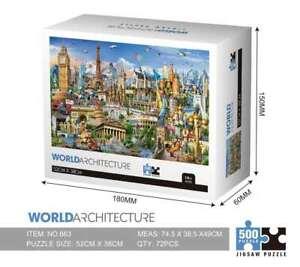 World Architecture 500PCS Cardboard Puzzle Brand New & Sealed 52*38cm AU STOCK
