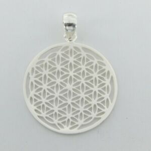 925 SILVER STERLING - Flower of Life PENDANT - Silver Jewelry #p104