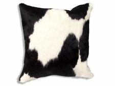 New Leather COWHIDE PILLOW cover hair on CUSHION 20x20