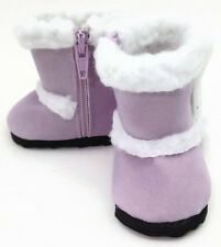 Lavender Shearling Boot Shoes for 18 inch American Girl Doll Clothes