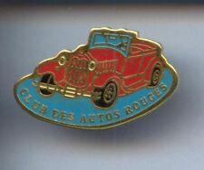 RARE PINS PIN'S .. AUTO CAR / CLUB DES AUTOS ROUGES  ¤6E