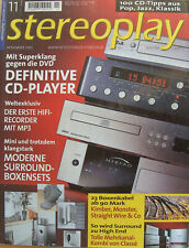 Stereoplay 11/01 Cayin TA 30, NAD C 320, LUA 5/3 D, Benz ACE H / L, Creek CD 53
