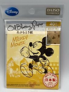 *New* Disney Daiso Mickey Mouse Oil Blotting Paper Makeup Face Cleaner