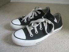 CONVERSE BLACK TRAINERS SIZE 3