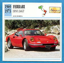SCHEDA TECNICA AUTO DA COLLEZIONE - FERRARI DINO 246GT 1969-1973