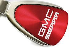 GMC Sierra Red Teardrop Authentic Logo Key Ring Fob Keychain Lanyard