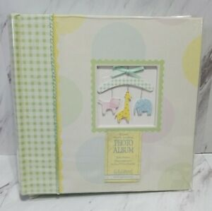 "New Vtg CR Gibson Baby Lite Green Photo Album  Holds 200 Photos Album Sz 9""X9"""