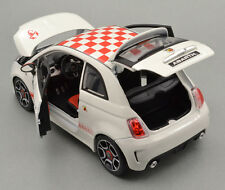 FIAT ABARTH 500 White sporty Bburago1:24 scale Diecast Model Car Gift idea BNIB