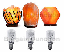 3 x Himalayan Salt Lamp Bulb 25w E14 Screw in Pygmy Bulbs Fridge Appliance Oven
