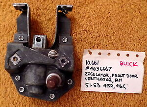 1951-53 Buick Special Coupe/Convertible RH Vent Window Regulator NOS 4636667
