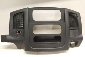 02-05 Dodge Ram 1500 Center Dash Trim Bezel Radio Surround Panel Gray 03 04 05