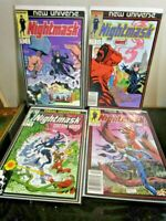 New Universe Nightmask Comics by Marvel Comics - Issues 1-4 1986 BAGGED BOARDED