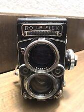 Rolleiflex 2.8f planar 80mm Zeiss con Custodia In Pelle e Accessori
