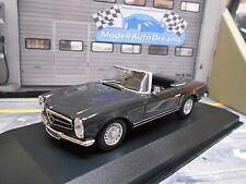 Mercedes Benz 230sl SL PAGODE Roadster 1965 Gris Grey Maxi w113 MINICHAMPS 1:43
