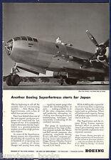 1944 Boeing Aircraft advertisement, B-29 SUPERFORTRESS photo