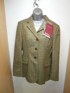 Ladies Barbour Hacking Jacket - Olive Tweed Size 14 -  Showing riding hunting