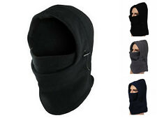 Mens Fleece Windproof Ski Face Mask Balaclavas Hood Neck Warmer Adjustable