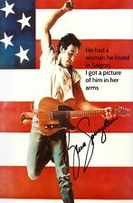 "BRUCE SPRINGSTEEN ""BORN IN THE USA""  LYRICS POSTER PLAQUE PRINTED AUTOGRAPH"