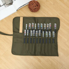 Artist Draw Pen Watercolor Roll Up Canvas Oil Paint Brushes Cases Holder Pouch