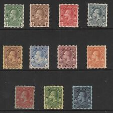 TURKS & CAICOS ISLANDS 1928 SET OF KING GEORGE V STAMPS TO 10/- MINT