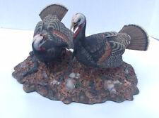 """Danbury Mint """"Autumn Rivals"""" by Nick Bibby Wild Turkey Sculpture Notice*"""