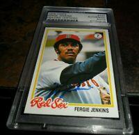 1978 TOPPS #720 BOSTON RED SOX Autograph Fergie Jenkins Signed PSA/DNA  HOF