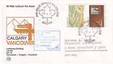 (20609) Canada Lufthansa Cover DC10 Vancouver Calgary Frankfurt 15 May 1983
