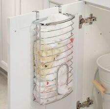 Chrome Over Cabinet Plastic Carrier Bag Storage Holder Dispenser Recycle Bags