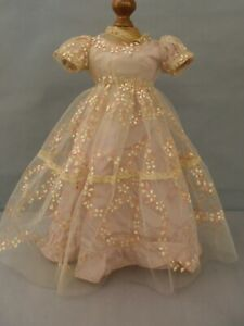 """Vintage 1950's Tulle & silk mauve dress Will fit 18-20"""" fashion American type"""