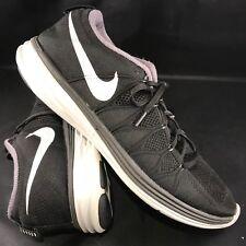 Nike Flyknit Mond 2 Laufschuhe Herren Sz 14 48.5 620465-011 Schwarz Weiß
