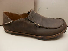 OLUKAI MENS SHOES MOLOA DARK WOOD DARK JAVA SIZE 10