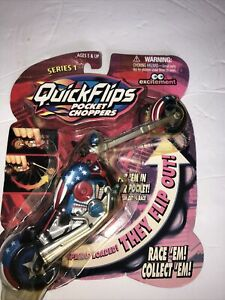 Quick Flips Pocket Choppers (RED, WHITE & BLUE ) Motorcycle rare series 1
