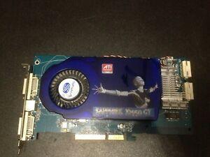 ✔ tested Sapphire X1950GT Dual DVI 256MB DDR3 256bit AGP RARE Videocard