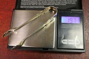 Sterling silver sugar tongs