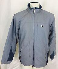 NWOT BMW Jacket Men's Medium Gray Fleece Lined Pockets Full Zip
