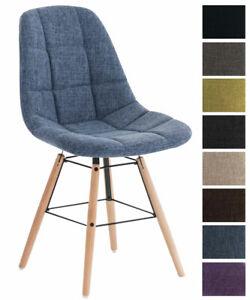 Sedia Pranzo TAMMY in Stoffa Design Faggio Sedia Moderna Trapuntata Scandinava
