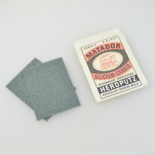Matador Silicium-Carbid HERDPUTZ - alte Verpackung - 2 Blätter - Vintage