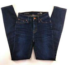 J CREW High Rise Skinny Jeans Size 24 / 29  Dark Wash Stretch Womens