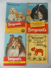 4 1930-50's Sergeant's & Dr Clayton Treatise Dog Pamphlets/Booklets