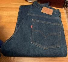 Vintage Levis 505 Small e No Redline Talon 42 Zipper Indigo Denim Jean. Sz.36x32