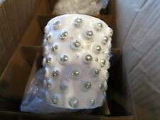 Pottery Barn Eclectic Mercury Votive Holders, Set of 6 - White New in box